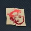 มังกร RED sticker ( 6cm *4.9 cm)