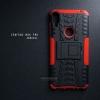เคส Zenfone Max Pro M1 (ZB602KL) กรอบบั๊มเปอร์ กันกระแทก Defender สีแดง (เป็นขาตั้งได้)