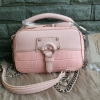 David Jones Women Crossbody Bag Serpentine Messenger (Pink) free ถุงผ้า