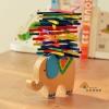 ของเล่นไม้ เกมวางสมดุลแท่งไม้บนหลังช้าง Educational Elephant Balancing Blocks