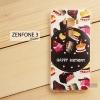 เคส Zenfone 3 5.5 นิ้ว (ZE552KL) เคสนิ่ม TPU พิมพ์ลาย แบบที่ 8 Happy Birthday!