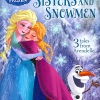 Disney Princess Frozen - Sisters and Snowmen - 3 Tales from Arendelle. Elsa Anna หนังสือปกแข็ง รวมนิทาน โฟรเซ่น ราชินีหิมะ เอลซ่า อันนา