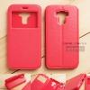 เคส Zenfone 3 Max ZC553KL (5.5 นิ้ว) เคสฝาพับหนัง PU แบบพิเศษ สีชมพูเข้ม