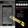 (มีกรอบ) กระจกนิรภัย-กันรอยแบบพิเศษ ขอบมน 2.5D ( Zenfone 4 Max Pro ZC554KL ) ความทนทานระดับ 9H สีดำ