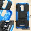 เคส Zenfone 3 Max ( ZC520TL ) 5.2 นิ้ว กรอบบั๊มเปอร์ กันกระแทก Defender สีน้ำเงิน (เป็นขาตั้งได้)