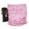 ผ้าอ้อมผู้ใหญ่ B8 เอว 30-48นิ้ว ขอบขา3ชั้น ยืดพิเศษ+แผ่นซับชาโคล -Pink