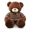 ตุ๊กตาหมีตัวใหญ่ ใส่เสื้อกันหนาว <พร้อมส่ง>