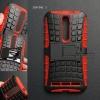 เคส ASUS Zenfone 2 (5.5 นิ้ว) กรอบบั๊มเปอร์ กันกระแทก Defender สีแดง (เป็นขาตั้งได้)