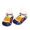 รองเท้าถุงเท้าพื้นยางหัดเดิน รองเท้าผ้าใบดาวน้ำเงิน size 19-23
