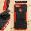 เคส Zenfone Max Plus (M1) เคสบั๊มเปอร์ กันกระแทก Defender สีแดง