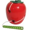 ของเล่นไม้ หนอนเจาะลูกแอปเปิ้ล ร้อยเชือก