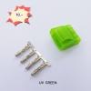 Molex (ตัวผู้) เขียว UV +ไส้ pin