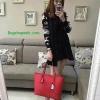 กระเป๋า GUESS SAFFIANO SHOPPER BAG สีแดง