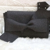 CHARLES & KEITH CLUTCH BOW SHOULDER BAG free ถุงผ้า