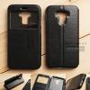 เคส Zenfone 3 Max ZC553KL (5.5 นิ้ว) เคสฝาพับหนัง PU แบบพิเศษ สีดำ (มีช่องด้านหน้า)