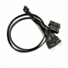 9-Pin USB Internal Header Y Splitter Cable + Molex Powered