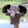 ตุ๊กตาหุ่นมือช้าง หัวใหญ่ ขนนุ่มนิ่ม สวมขยับได้