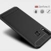 เคส Zenfone 5 (ZE620KL) เคสนิ่มเกรดพรีเมี่ยม (Texture ลายโลหะขัด) กันลื่น ลดรอยนิ้วมือ สีดำ