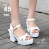 รองเท้ามัฟฟินไซส์ใหญ่ 45 รัดข้อเท้า สีขาว รุ่น KR0465