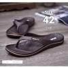 รองเท้าแตะหูหนีบไซส์ใหญ่ 42 ชาย/หญิง สีน้ำตาล รุ่น KR0702
