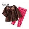 GTL04 เสื้อแขนยาว+กางเกงขายาว (Size 24M, 3T) ลายปัก ผ้ายืดเกรดพรีเมียม หนาและนิ่ม เนื้อผ้าดีมากๆ ใส่สบาย