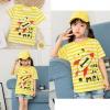 เสื้อยืดเด็กเล็ก ลายจรวด ริ้วเหลืองขาว มีกระดุมข้างคอ Size 0-1y/1-2y/2-3y สำหรับเด็กวัย 0-3 ปี