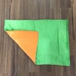 ผ้ารองกรงทูโทน 507-L ขนนุ่มส้มเขียว