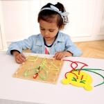 ของเล่นหลักหมุดไม้ สร้างภาพจากเส้นเชือกและยางยืด เสริมพัฒนาการ
