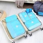 ชุดจัดกระเป๋าเดินทาง 4 ใบ จัดระเบียบเสื้อผ้าในบ้าน กันน้ำ ใส่เสื้อผ้า กันน้ำ มี 4 สีให้เลือก