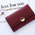 กระเป๋าสตางค์ใบกลาง Just For You Circle สีแดง