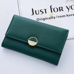 กระเป๋าสตางค์ใบกลาง Just For You Circle สีเขียว