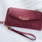 กระเป๋าสตางค์ใบยาว ซิปรอบ Forever Young Letter สีแดง