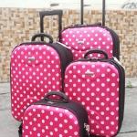 กระเป๋าเดินทางลาย polka dot มีให้เลือก 4 ขนาดตามการใช้งาน