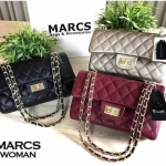 MARCS Woman Quilted Chain Shoulder Bag free ถุงกระดาษแบรนด์ค่ะ