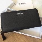 Calvin Klein Long Wallet (สีดำ) Gift Set พร้อมกล่องและถุงกระดาษ *สินค้า outlet