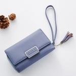 กระเป๋าสตางค์ใบกลาง Just For You M Classic สีฟ้า