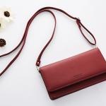 กระเป๋าสตางค์สะพายข้าง Just For You Cover สีแดง