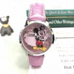 Cl5061 นาฬิกาสายหนัง สีชมพู 150บ.