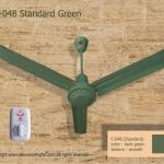 """พัดลม เพดาน ซากุระ 48"""" สีเขียว Classic Green"""