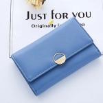 กระเป๋าสตางค์ใบกลาง Just For You Circle สีฟ้า