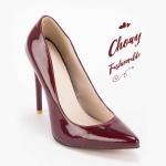 รองเท้าส้นสูงไซส์ใหญ่ Magic สีไวน์แดง ไซส์ 46 รหัส KR0697