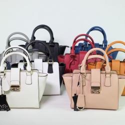 Amory Leather Mini Lock City Bag มีถุงผ้าแบรนด์ , ป้ายหนังแท้