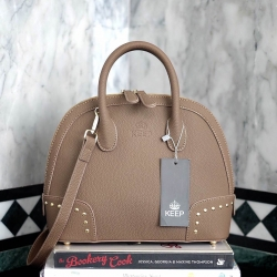 กระเป๋า KEEP Alma Infinite Handbag สีน้ำตาลโกโก้ ราคา 1,790 บาท Free Ems #ใบนี้หนังแท้ค่า