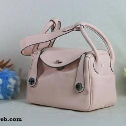 กระเป๋า หนังแท้ Lindy26cm Swift Silver Studd material Coated Leather หนังลูกวัว100%
