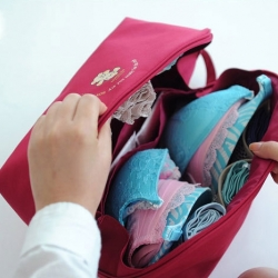 กระเป๋าใส่ชุดชั้นใน กางเกงชั้นใน ขนาดใหญ่พิเศษ แบ่งช่องสองด้าน ใส่ได้หลายตัว มี 4 สี 4 ลาย