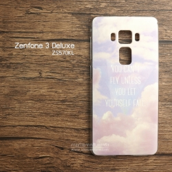 เคส Zenfone 3 Deluxe (ZS570KL) เคสแข็งพิมพ์ลาย แบบที่ 5 You can't fly unless You less yourself fall