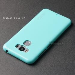 """เคส Zenfone 3 Max ZC553KL (5.5"""" นิ้ว) เคสนิ่มผิวเงา (MY COLORS) สีเขียวอมฟ้า"""