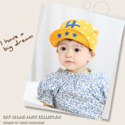 HT323••หมวกเด็ก•• / หมวกแก็ป-HC (สีเหลือง)