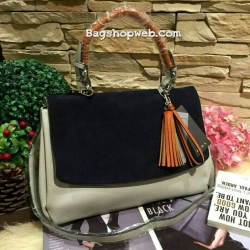 กระเป๋า ZARA Multicolor City Bag With Pendant Detail 2016 ราคา 1,390 บาท Free Ems