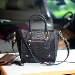 KEEP Teena python mini handbag